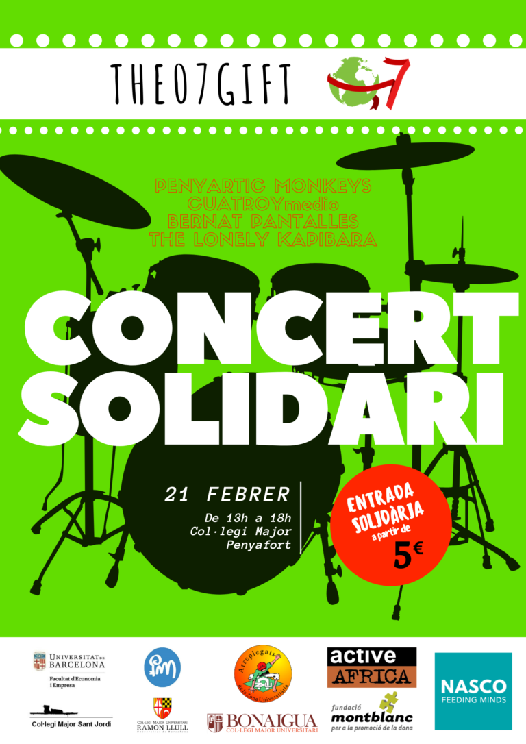 Cartell promocional 1er Concert Solidari The07gift